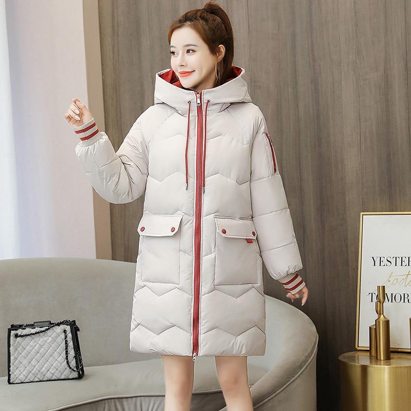 Plus Size 3XL femmes Veste d'hiver 2020 manteau d'hiver Femmes Parka long et épais à capuchon Femme Vestes et manteaux femme Parkas noir