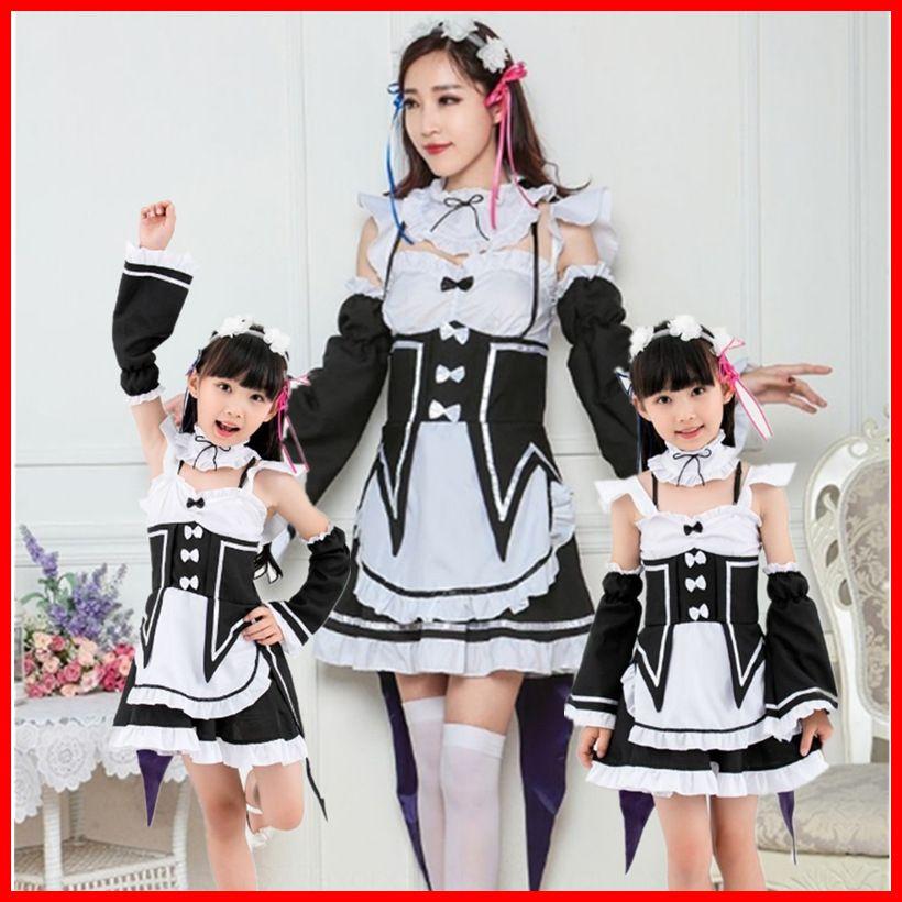 farklı bir dünyada sıfırdan SVhKv Cosplay anime kızlık giyim ebeveyn-çocuk anime Bakire Dünya giyim