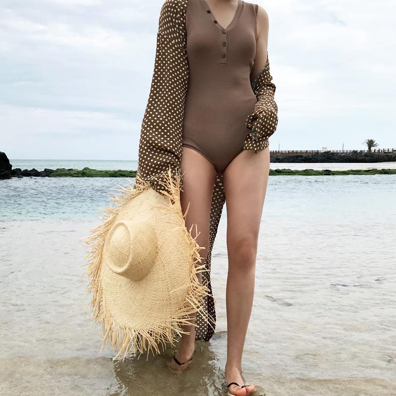 2020 Мода Моря Солнцезащитного козырек Hat Женская летняя Sun Шляпа для женщин большого соломенной шляпе Folding Бич девушка Оптового
