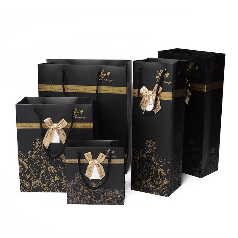 العلامة التجارية الجديدة الجملة النبيذ هدية كيس ورقي لولطيف حزب مخصصة كيس ورقي
