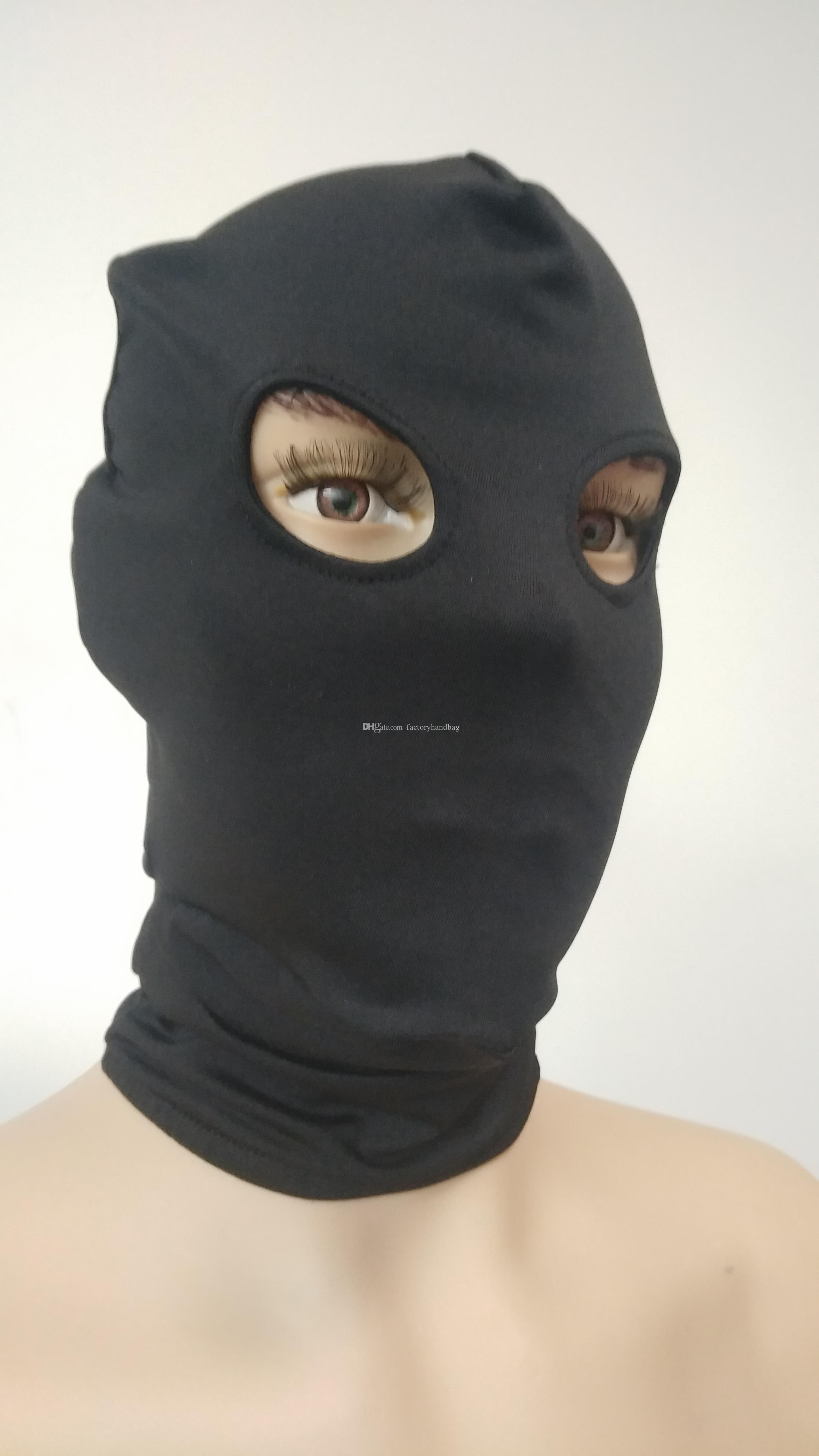 Halloween Party Lycra Spandex Zentai Costume Complet Masque Capot Bal D/éguisement Color/é Noir
