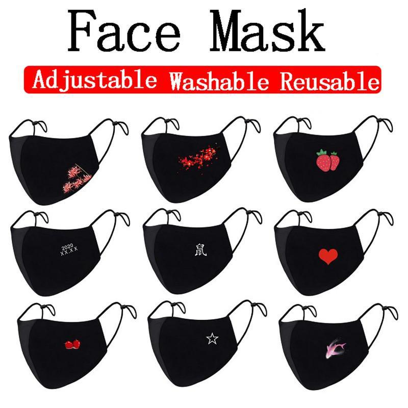 DHL shipping Outdoor Anti-Dust Face Cover Protective Cotton Mask for Men Women Washable Reusable Cycling Masks Black Fashion Mouth DHD875