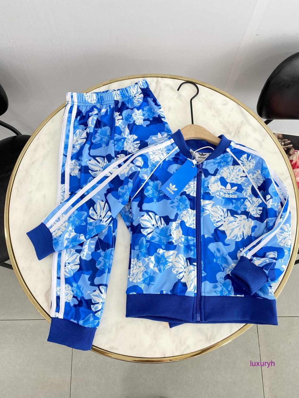 manches longues filles de garçons motif imprimé lettre couleur coton top filles automne vêtements ensembles