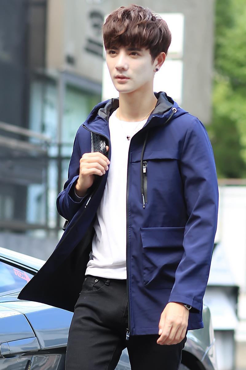 Pop2019 el modelo masculino y primavera Corea tendencia Delgado Hermoso béisbol Servir hombres de la ropa del desgaste de la chaqueta