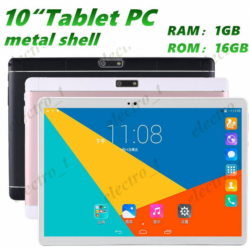 10 inch Tablet Pc metal shell MTK6582 Quad Core Android 5.1 dual card 3G call 1280 *800 IPS HD Display screen Dual Camera 1GB 16GB MQ10