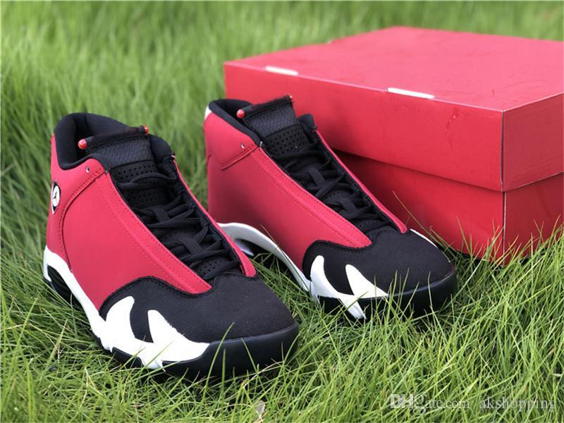 Новый Аутентичный 14 Gym Red Баскетбол обуви Мужчина Черного Белый Real Carbon Fiber Последний выстрел Желтых спортивные кроссовки с оригинальным Box 40-47