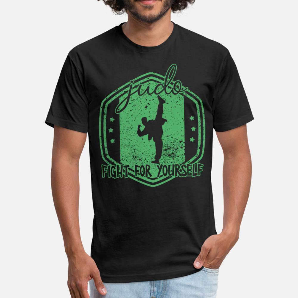 Дзюдо Борьба футболку мужчин Печать Tee Shirt S-XXXL Solid Color Сыпучие Смешной Повседневный Весна Осень Kawaii рубашка