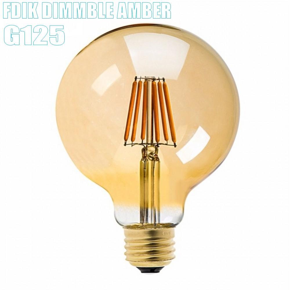 E27 Dimmable Amber G125 15 Вт 12 Вт привело Античная E27 E26 Урожай ретро лампы 110V 220V Нить лампы светильника стеклянного шарика Bombillas свет