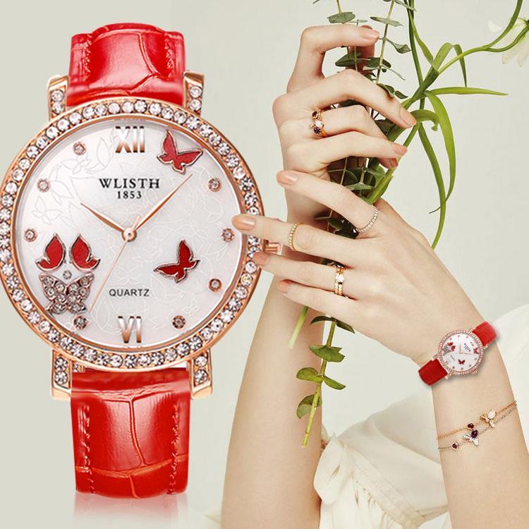 Weibliche Schüler Gürtel koreanische Version des Trend-Set Diamant-Armbanduhr Art und Weise wasserdichten Freizeit Damenuhr personalisiert Quarzuhr