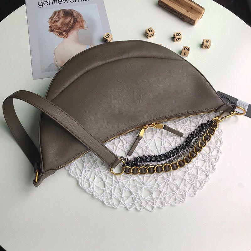 Женская 2020 Новый рюкзак подмышки мешок одного плеча наклонная сдвоенного пакера портативный серп мешок моды уличной моды женщин сумка высокое чувство