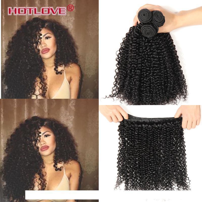 H Malasia Afro rizado pelo rizado Longitud mezclada 3 4 Lotes Lote bruto de Malasia rizado rizado pelo de la Virgen extensiones de cabello humano