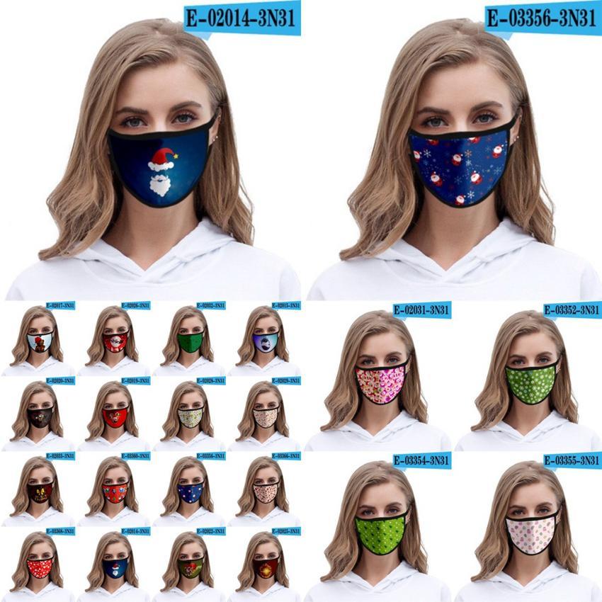 Cara Moda de Navidad 3D Máscaras adultos de los niños de Santa Claus Elk impresión Máscaras anti polvo reutilizable lavable Boca Cubierta de Navidad Cara Máscaras CYZ2676