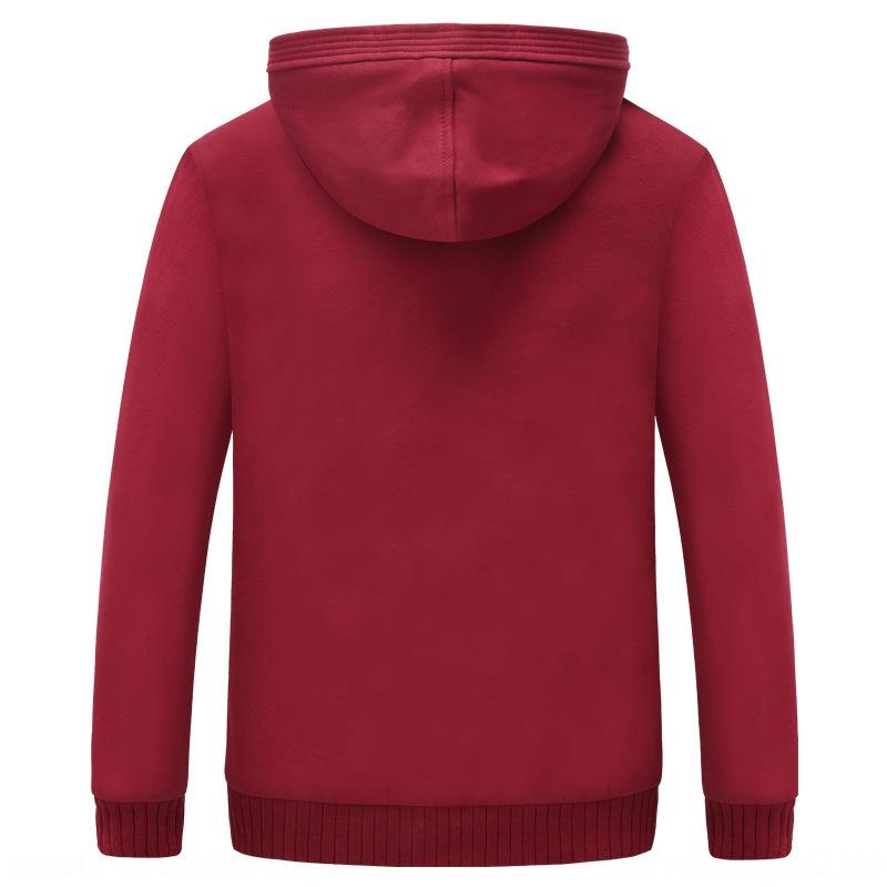 Main push autumn and winter Slim Plus velvet Warm sweaterCoat sweatersweater men's wear hoodie sweater solid color warm coat large size thic