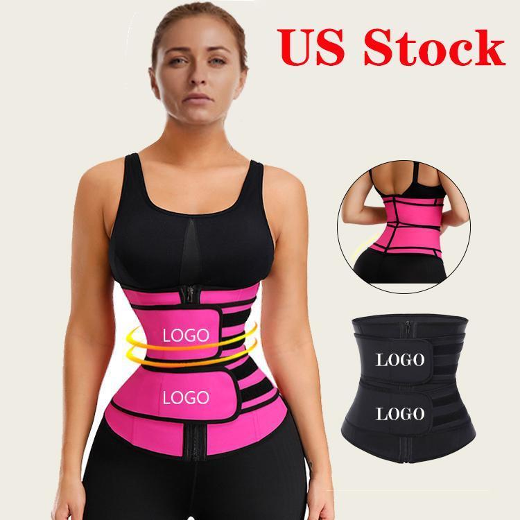 US Stock Slimming Waist Trainer Lumbar Back Waist Support Brace Belt Gym Sport Ventre Belt Corset Fitness Trainer Body Shaper FY8084