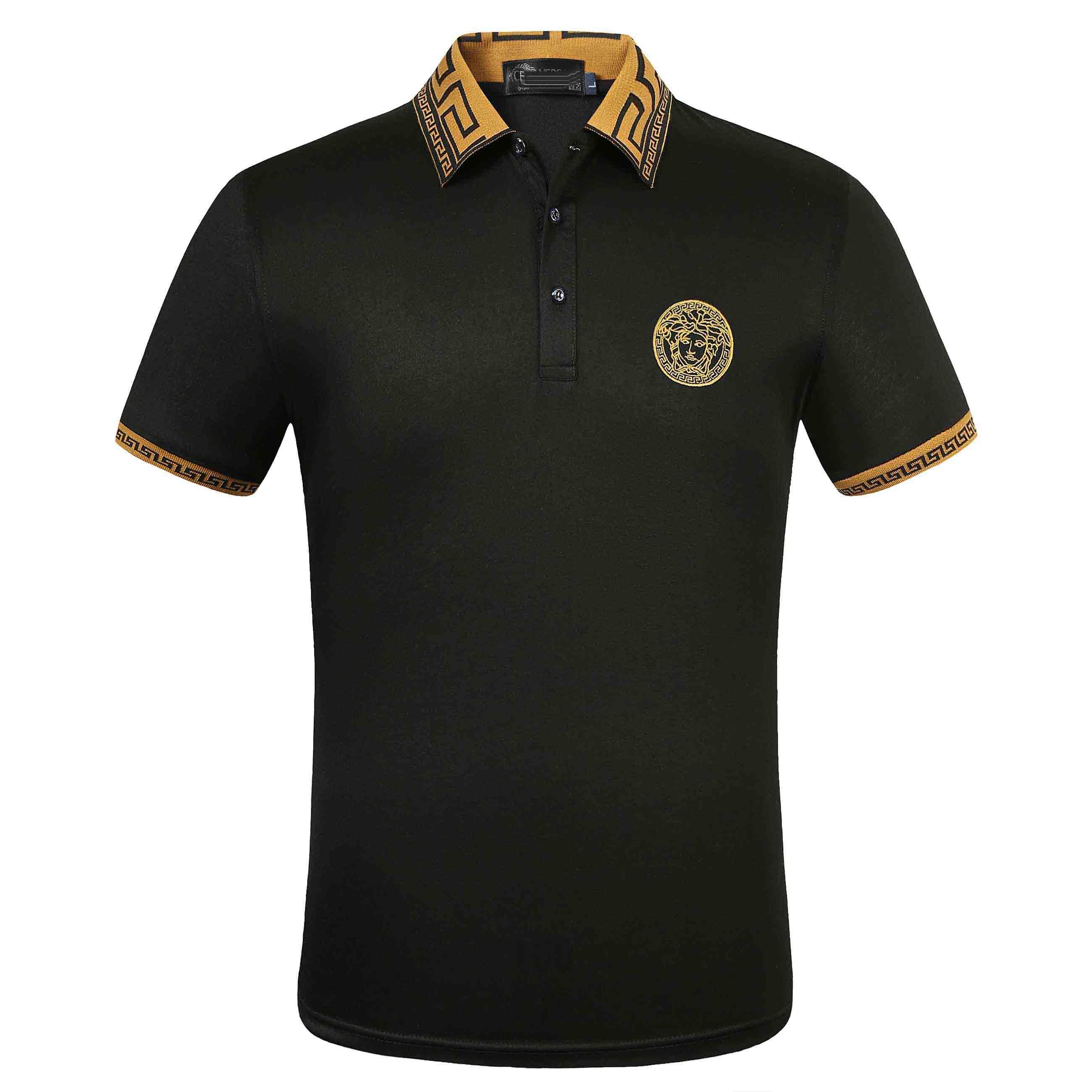 2020ss Luxus Europa Paris Patchwork Männer-T-Shirt-Mode-Männer Designer-T-Shirt Casual Men Kleidung Meduse Cotton Tee Luxus-Polo