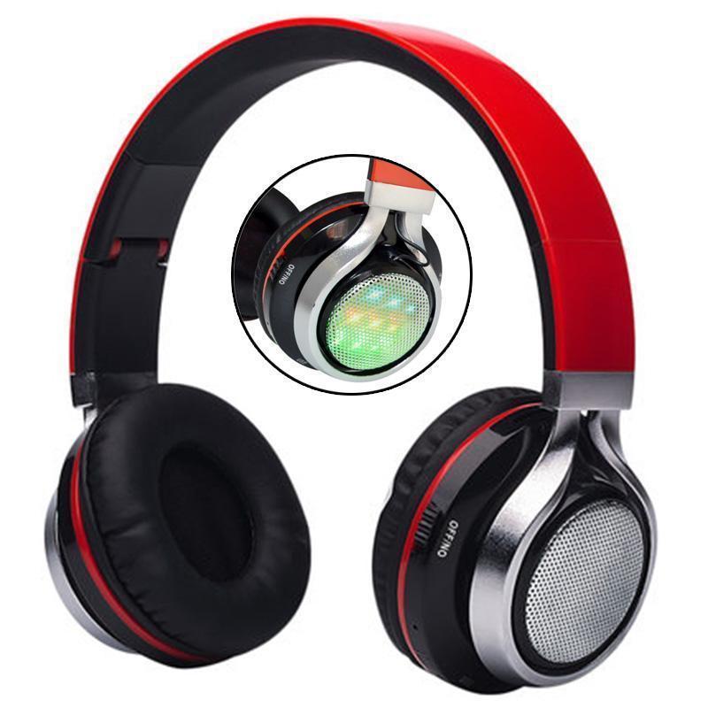Faltbare Musik Pluse Led Beleuchtung Bluetooth-Kopfhörer Ab -005 LED-Leucht-Stereo Kopfhörer TF-Spieler FM-Radio mit Mic Hifi MP3-Headset