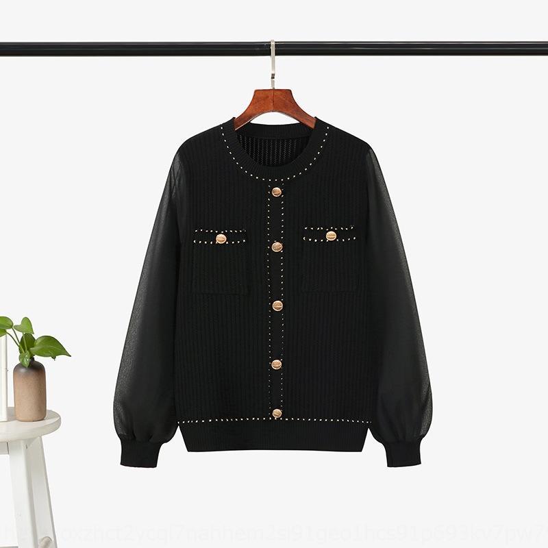 I3gnK Eis der Mode beiläufige Klage der Frauen 2020 Anzug New Hohl aus Strick Seide Rock Strickwaren Chiffon Hülsen A- förmige zweiteiligen Federrock