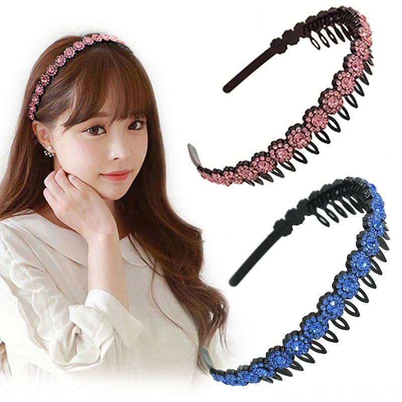 qcg8K koreanischen Stil Zubehör Kristall Strass crystalrhinestone Kunststoff-Zahn schwarz Stirnband Frauenhaar Karte Acrylglas Mode h