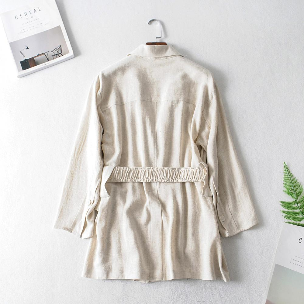 Kadın Ceket 20SS Yüksek Kalite Sonbahar Kış High Street Elemanları Günlük Moda Bayan Klasik WINDBREAKER Boyutu: S-L