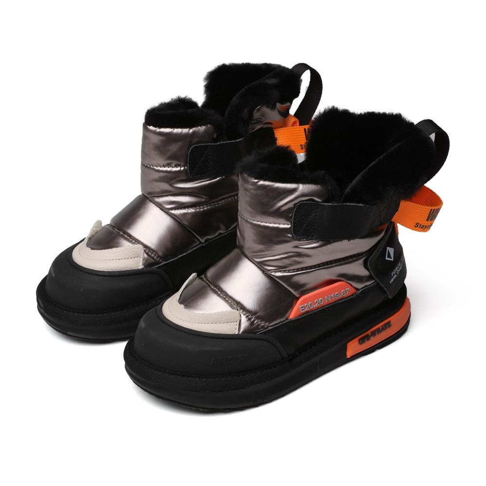 Winter Kids Shoes Casual Short Boots Children Ankle Boots Winter Keep Warm for Boys Girls Plus Velve Inside SZ184