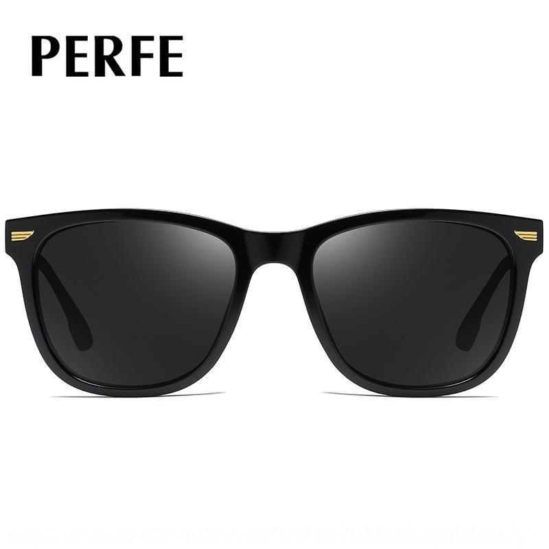 P0072 TR90 beiläufige Sport Sonne Männer TAC1.1 im Freien Sonnenbrille quadratische Gläser polarisiert Fahr