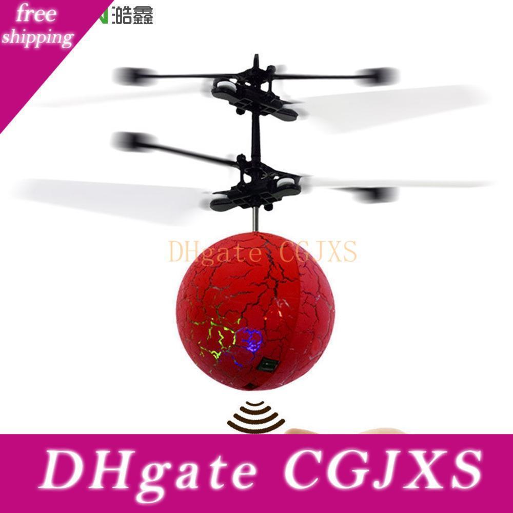 Haoxin vol Copter balle avion hélicoptère Led clignotant Light Up Jouets d'induction électrique Toy Sensor Enfants Enfants de Noël avec le paquet