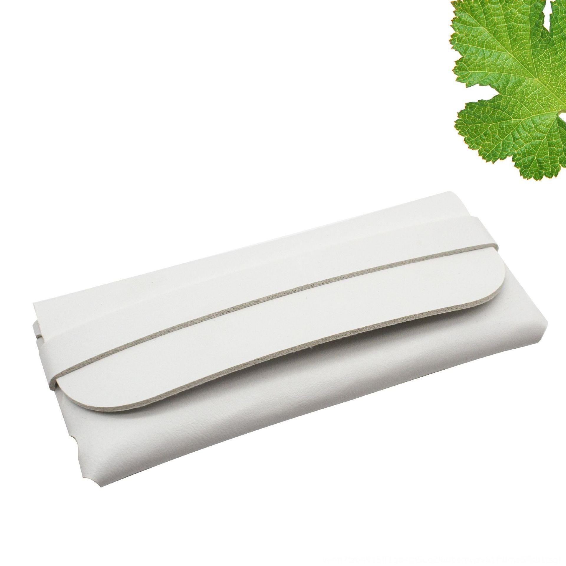 Yeni deri el yapımı kılıf kutusu kutusu dayanıklı taşınabilir kaset güneş gözlüğü PVC deri yumuşak bir çanta gözlük kutusu