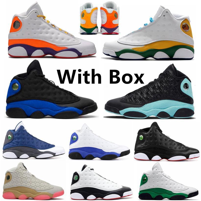 Novo Playground Hyper Royal 13 13s Ilha Green Mens Mens Mulheres Basquetebol Sapatos Criado Chicago Flint 13s Ele tem Jogo Lucky Green Sports Shoe