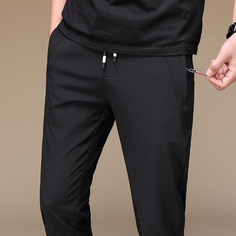 2020 pantalones de los hombres rectos de Streetwear ocasional de las bragas de los hombres respirables uso cómodo anti-arrugas Pantalones Ropa de hombres Tamaño 38 40