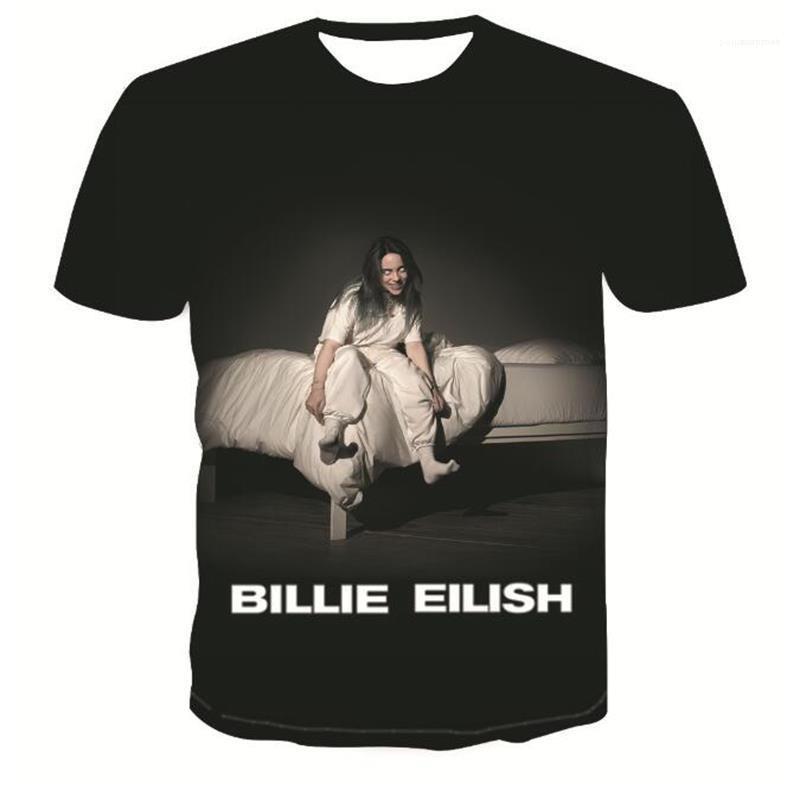 Girocollo signore Tops Billie Eilish estate donne magliette di modo digitale stampato femmina allentata T casuali