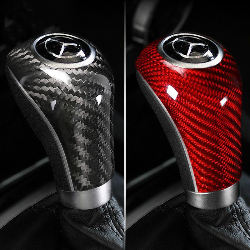Intérieur de voiture en fibre de carbone autocollant Mouldings vitesse Shifter Couverture pour Mercedes W204 W212 W169 W219 W463 CLS C E A G Classe