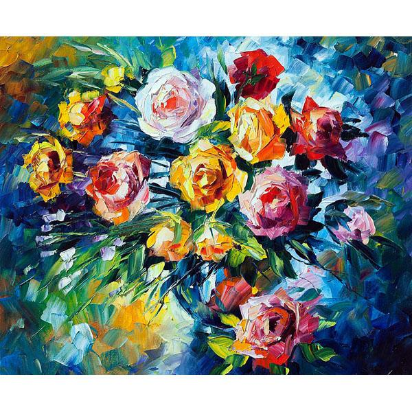Pop Hand-Painted Oil Painting Northern European Style Decorative Painting Abstract Flower Hanging Painting Living Room Restaurant Mural