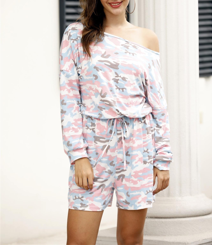 BspEI Self-made new 2020 calças de camuflagem primavera calças jumpsuit casuais corpo jumpsuit calções