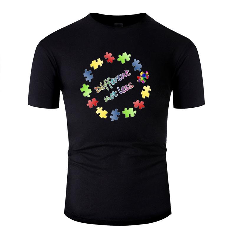 T-shirt Menos diferente não criar a consciência do autismo para a menina Homens Hipster gráfico Boy T-shirts Big Size 3xl 4xl 5XL