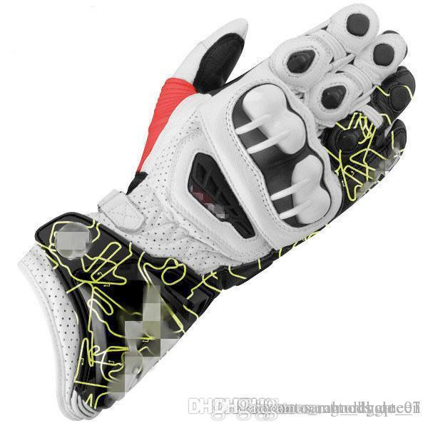 2019 Cross Country Motorrad-Handschuhe Qualitäts-echtes Leder Racing Handschuhe im Freien Druck Lokomotive Handschuhe schwarz und rot