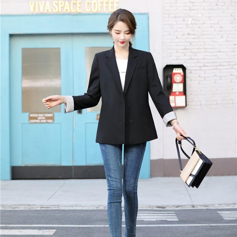 Мода дама черного Повседневной Blazer Женщина Outerweaer куртка пальто офис Рабочая одежда Одежда Стили