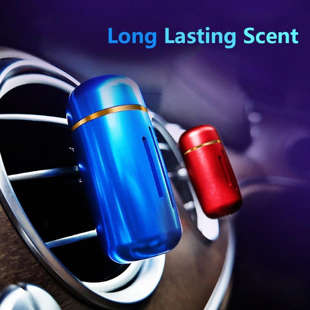 Mini Alaşım Araba Parfüm Klip Oda Parfümü In Car Oto Hava Firar Fragrance Aroma Yayıcı Katı Arıtma Aksesuar NJTg #