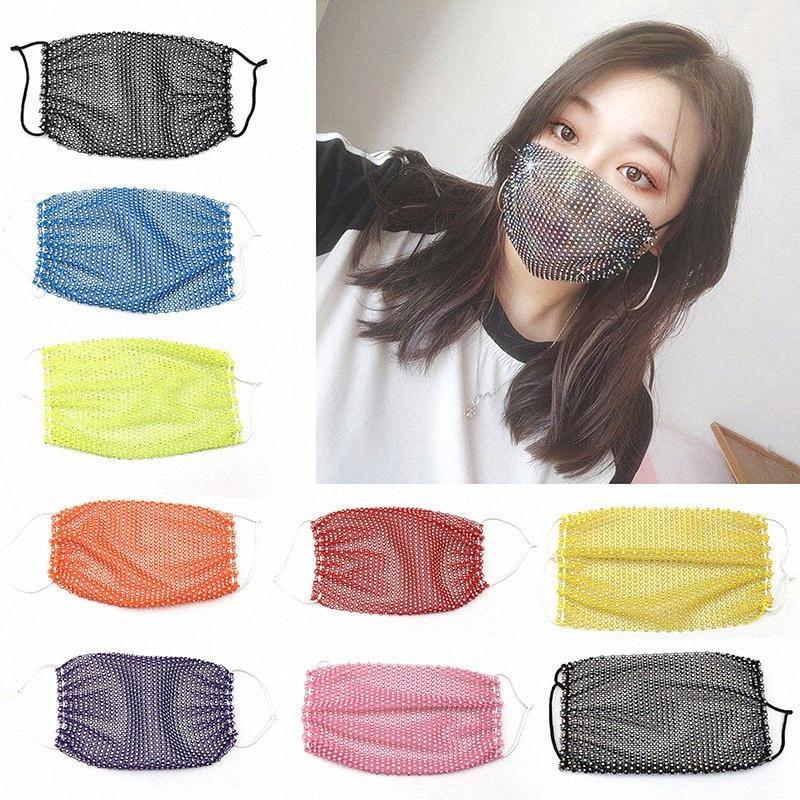 Maschere Moda Blingbling lucido paillettes progettista faccia Accessori Donne del partito del fronte maschere Designer Maschera Earloop lavabili DHC318 yl72 #