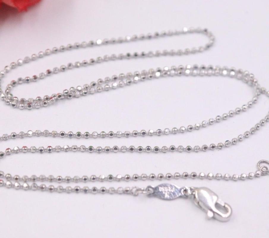 New Pure Platinum 950 Ожерелье из бисера 1.1mm Link ожерелье цепи 17.71''L Pt950