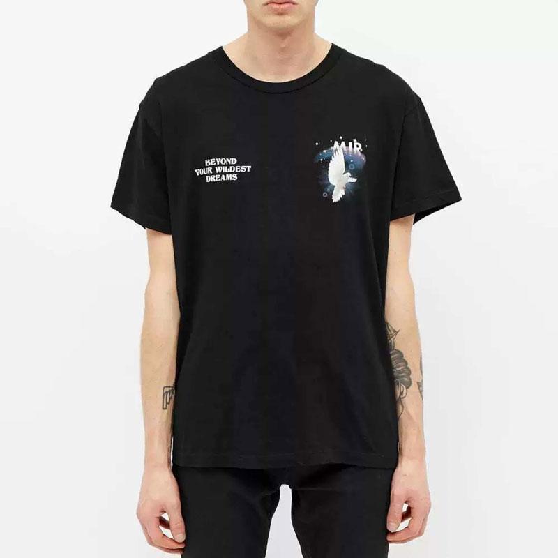 2020 Moda Hombres Mujeres camiseta con Impreso informal camiseta del verano respirable de alta calidad Tees 2 colores mezcla de algodón camisetas