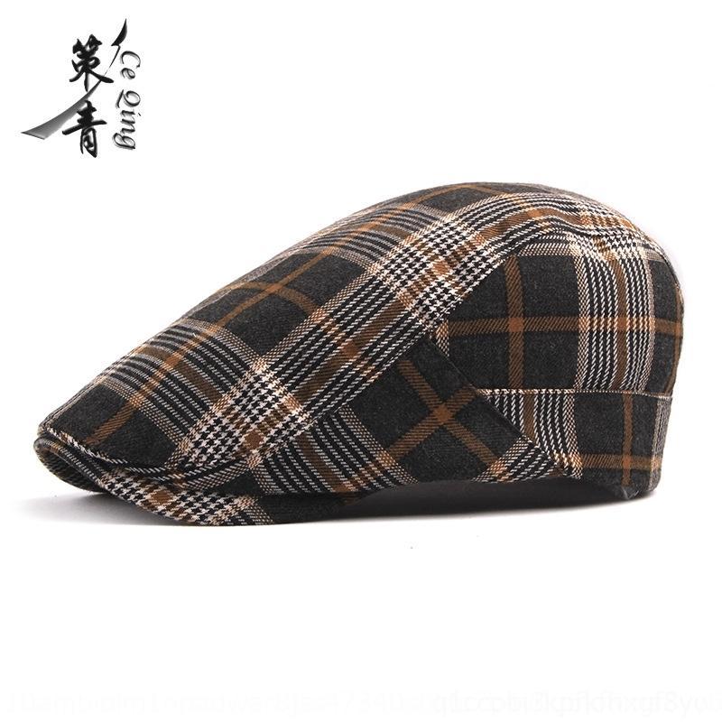 cappello di moda in avanti berretto giovani inglesi di moda punta berreto uomini cappello wo berretto a visiera artistico e delle donne Plaid kEJsC