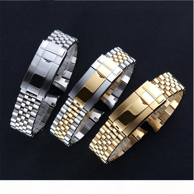Luxe Montre bracelet de 20 mm Sangle de 316L inoxydable Bracelet en acier courbé Fin Argent Montre Accessoires Convient pour les montres GMT