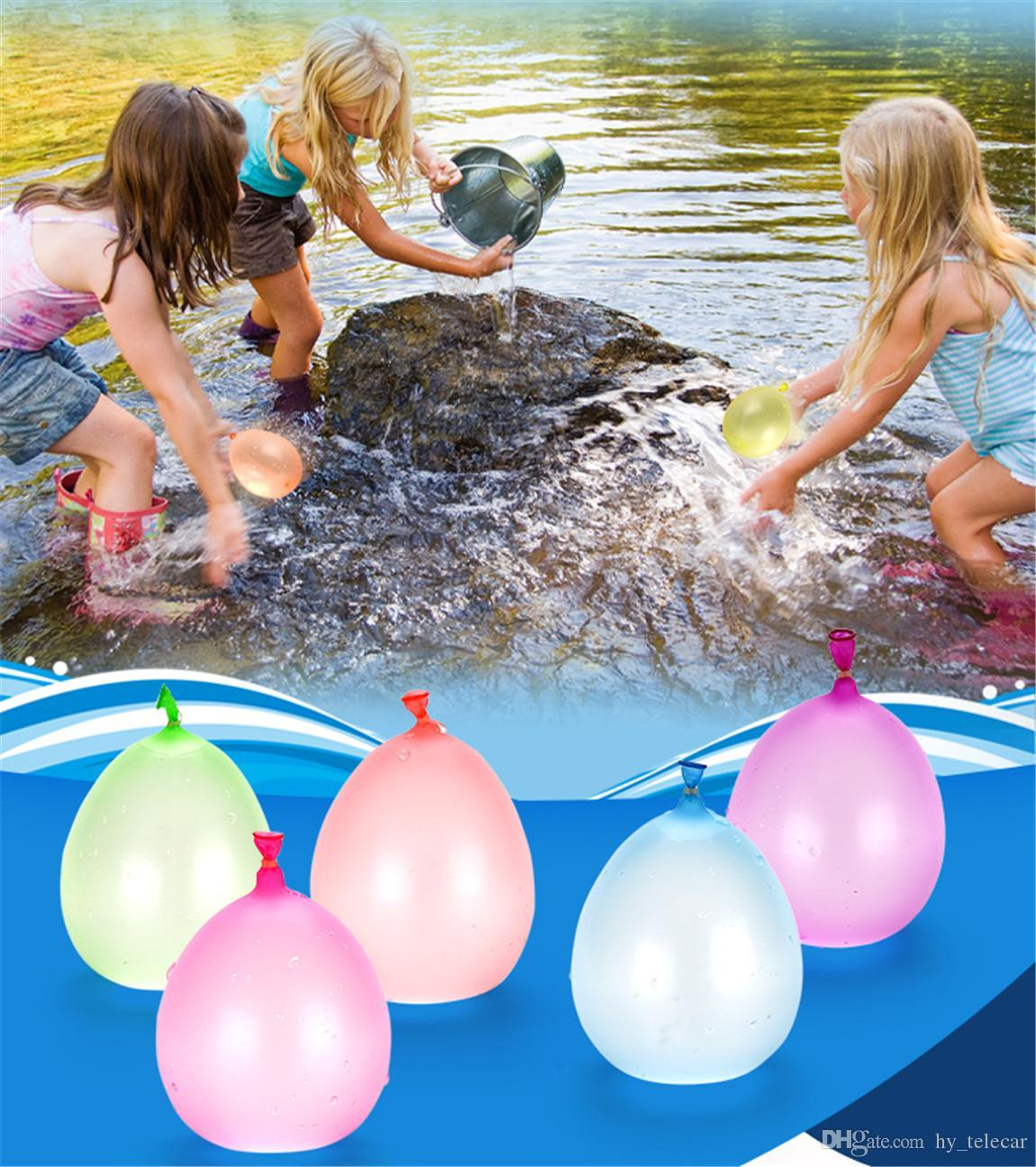 111Psc Colorful Water Filled Balloons Summer Children Garden Party Outdoors Play In The Water games For Kids Toys Fast Easy Filling Water 05