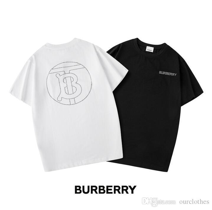 2020 moda camiseta t-shirt carta geométrica priting algodão homens e mulheres camisetas O pescoço unisex casuais T shirt dos homens meninas Q50 manga curta