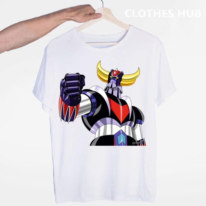 Goldrake Anime Japan Robot Serie T-shirt O-Collo maniche corte estiva casuale unisex uomini e donne maglietta