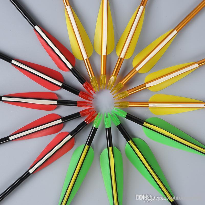 Plastic Vanes carbono 30 polegadas Setas com Campo Pontos substituível Dicas para Recurve Bow e arco composto
