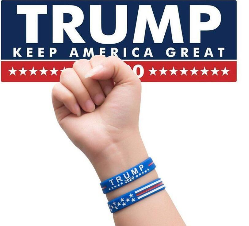 Trump 2020 Silicone Bracelet Keep America Great Wristband US General Election Bangle Soft Sport Band Gifts