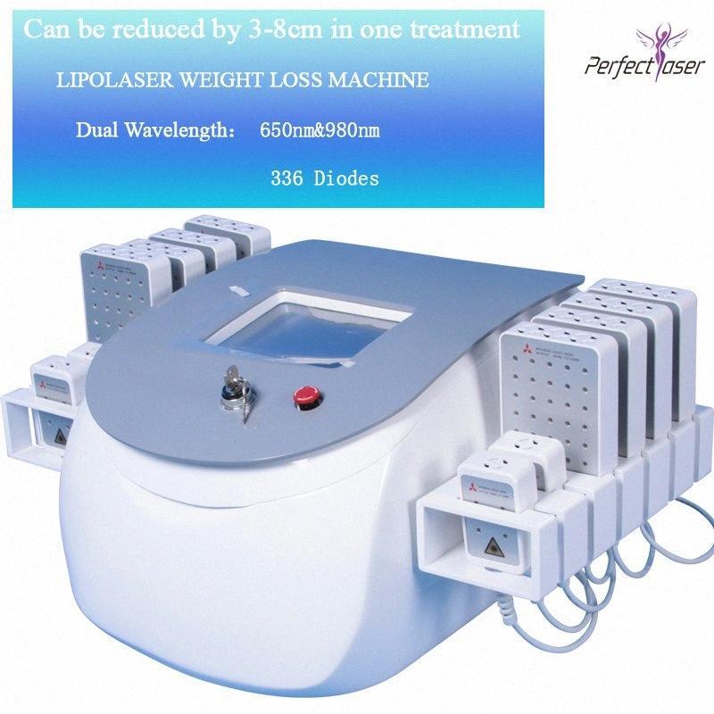 La celulitis con láser reducen la pérdida adelgazar máquina para salón de belleza Uso cuerpo que forma la máquina láser peso Lipo Hx2E #
