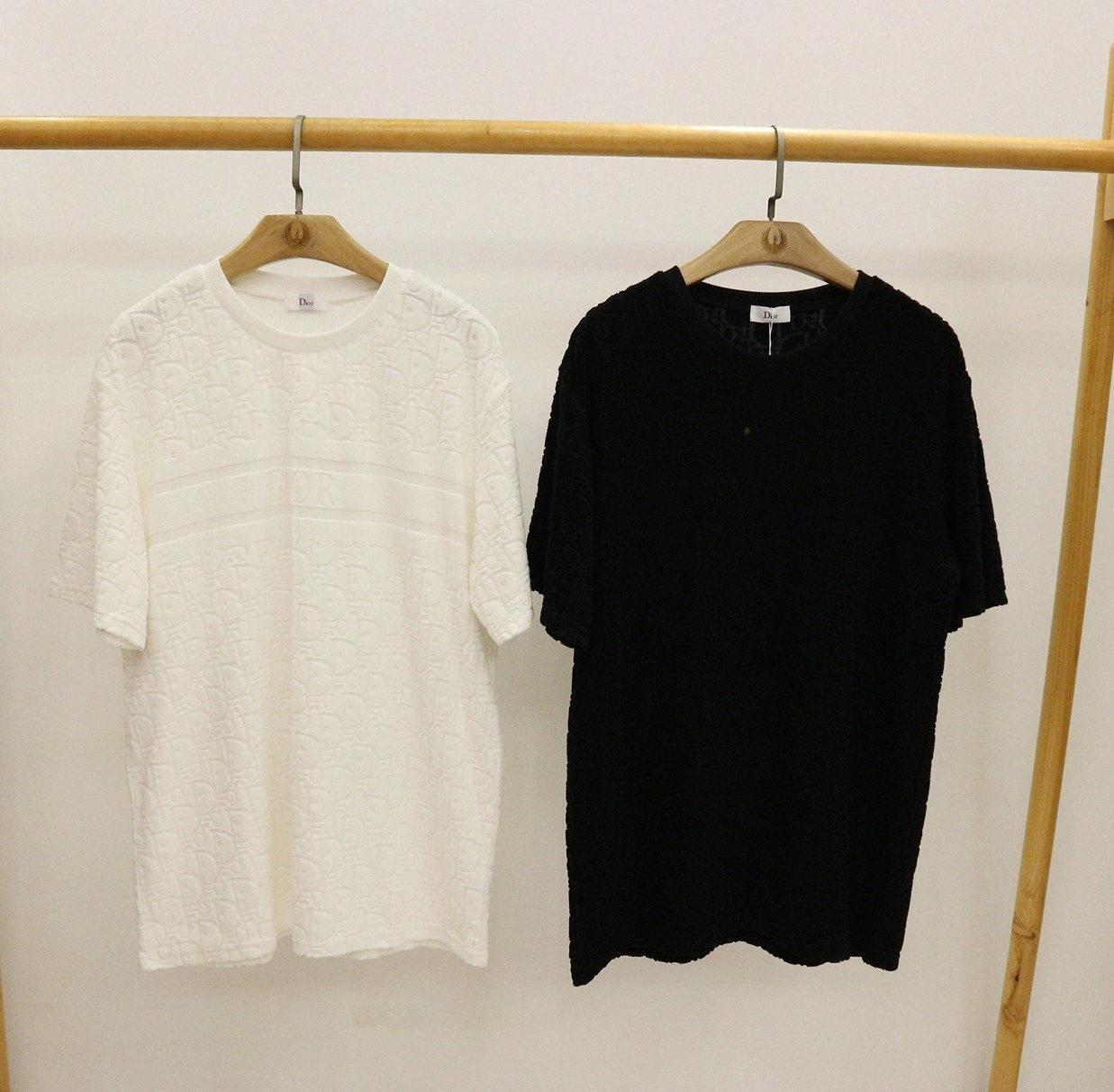 2020ss весной и летом новый высококачественный хлопок печати короткий рукав круглый шею панель T-Shirt Размер: M-L-XL-XXL-XXXL Цвет: черный белый Th0R #