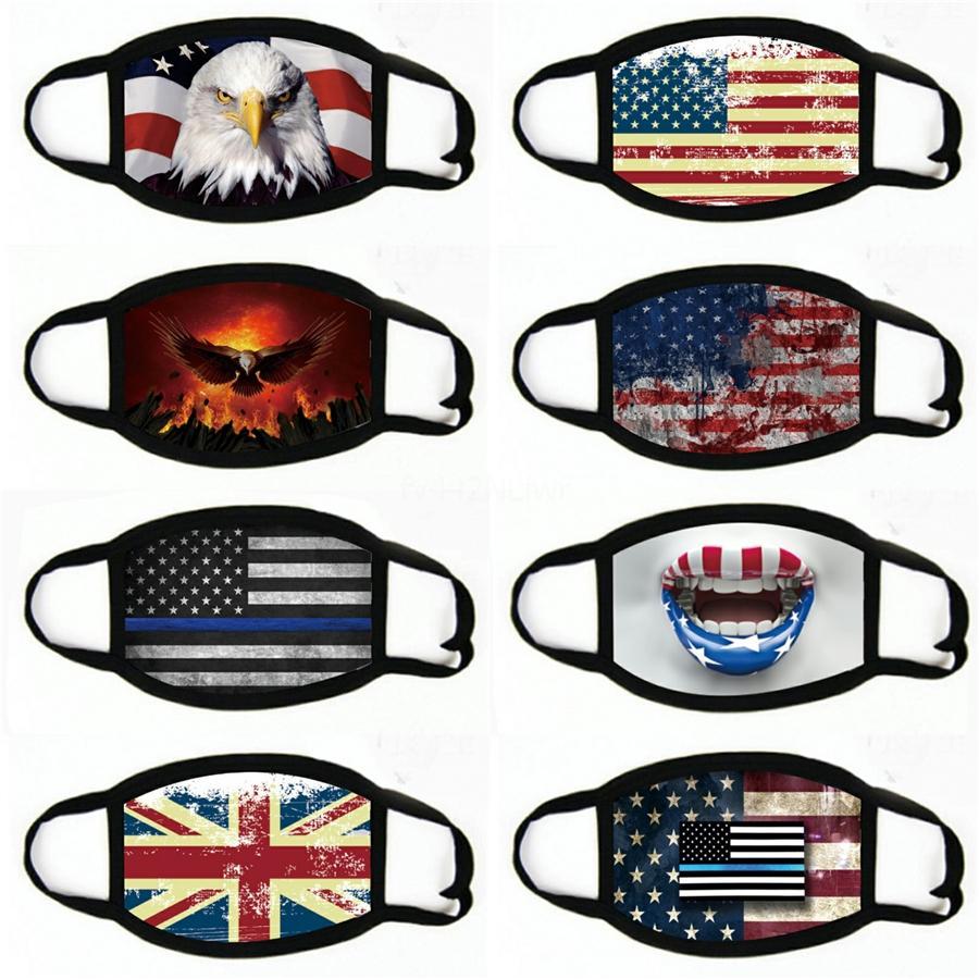 Adulto Pañuelos Bufandas cara Polaina tubo a prueba de polvo de la bandera de Estados Unidos de la media cara bufandas camping Ciclismo máscara # 648